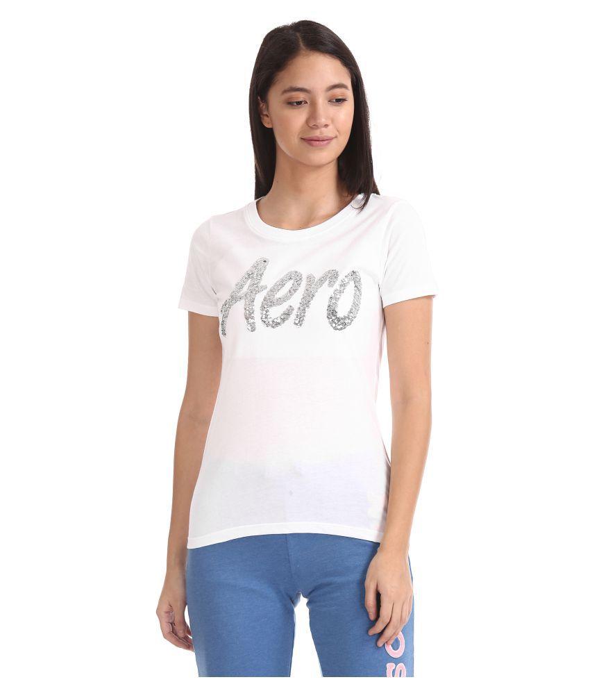 Aeropostale Cotton White T-Shirts