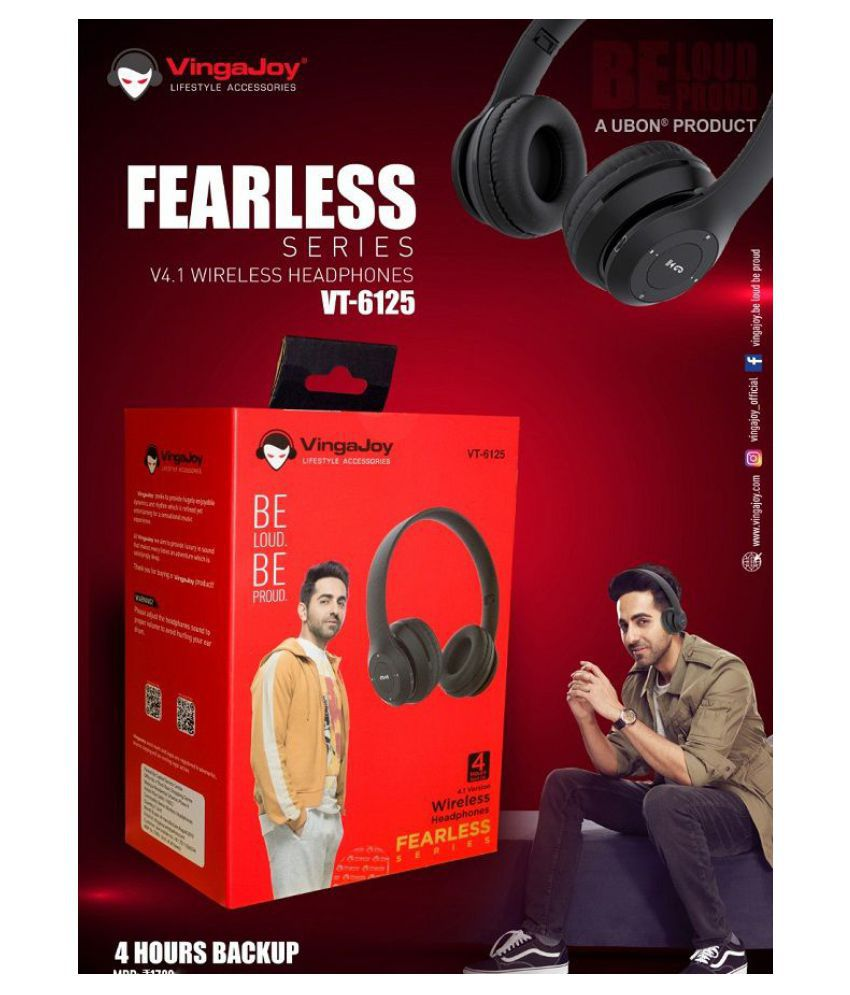 Ubon Vt 6125 Wireless Sports Bluetooth Over Ear Wireless Headphones With Mic Buy Ubon Vt 6125 Wireless Sports Bluetooth Over Ear Wireless Headphones With Mic Online At Best Prices In India On Snapdeal