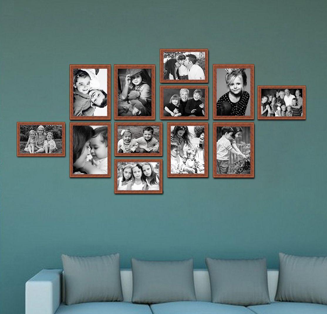Elegant Arts & Frames Wood Brown Collage Photo Frame - Pack of 1