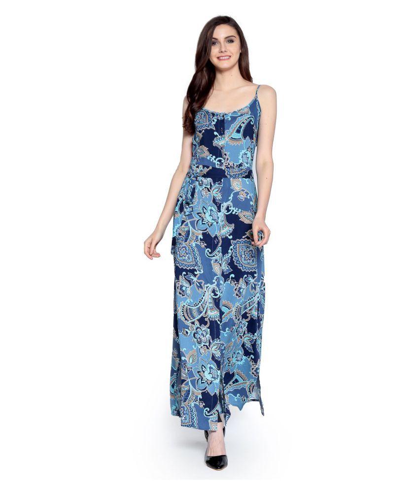 Abiti Bella Rayon Blue Dresses