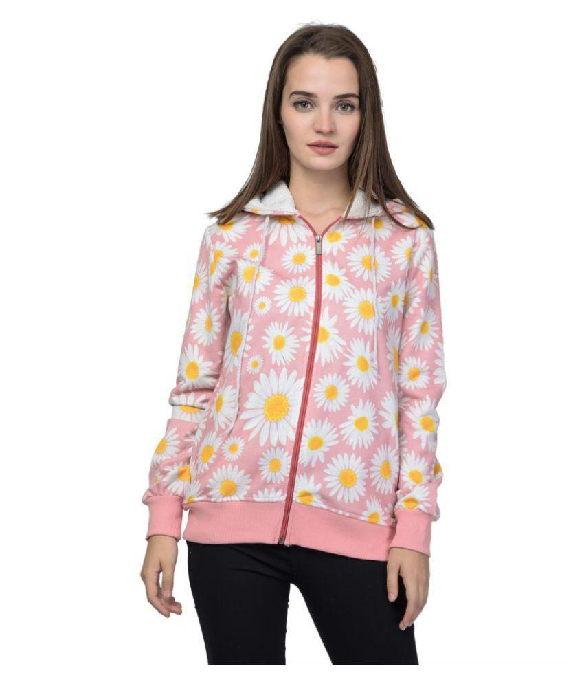 Kaily Fleece Multi Color Hooded Sweatshirt
