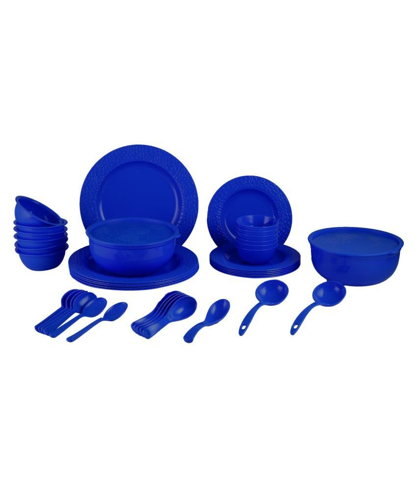 Homray Stone Plastic Dinner Set of 42 Pieces
