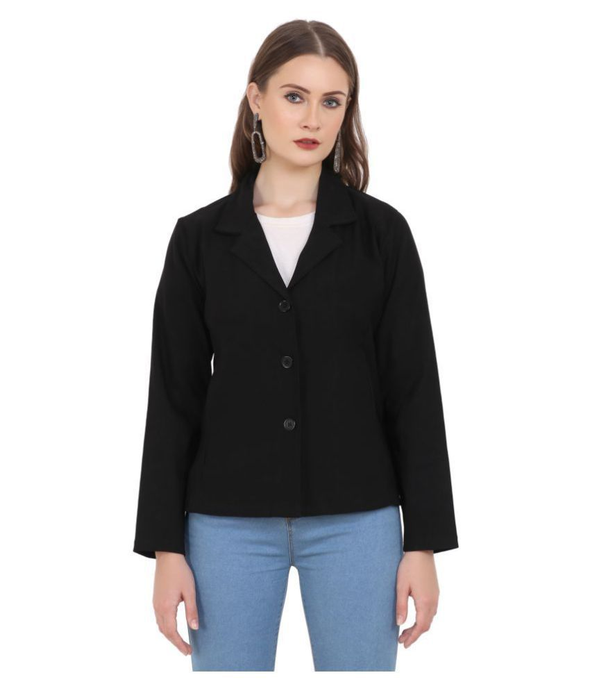 Aadrika Cotton Black Blazers