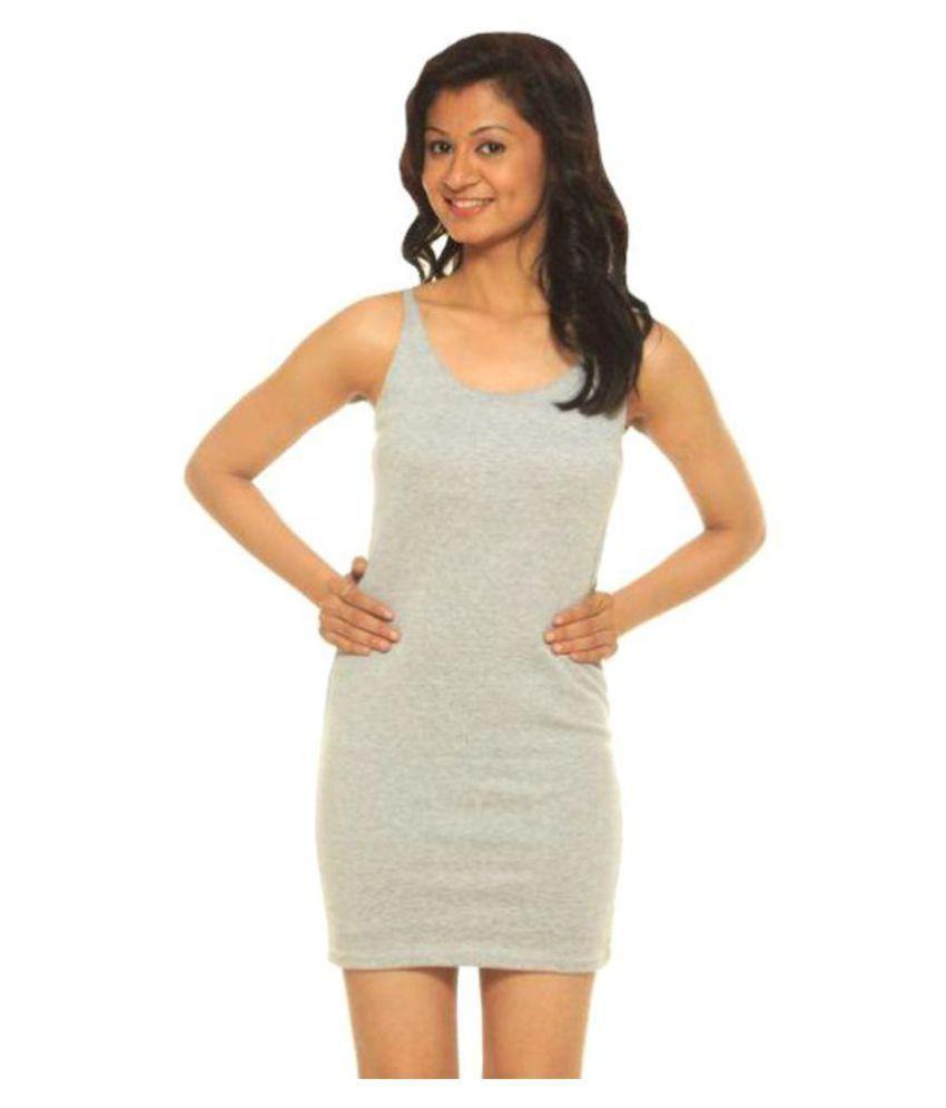 Modo Vivendi Cotton Grey Bodycon Dress
