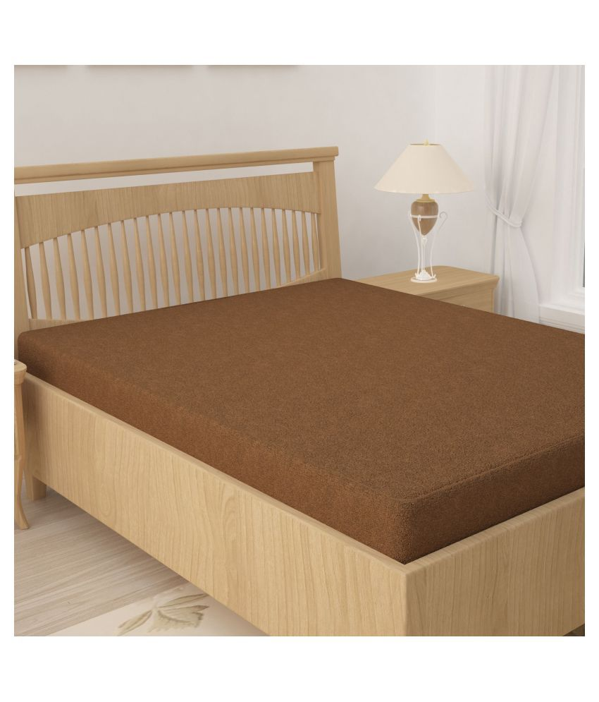 Story@Home Brown Cotton Mattress Protector
