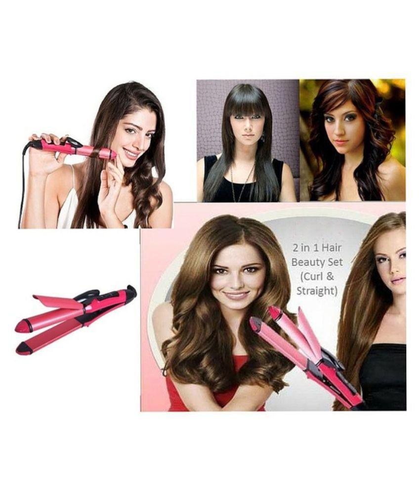 Online World Bentag 2 in 1  Hair Straightener ( Pink )