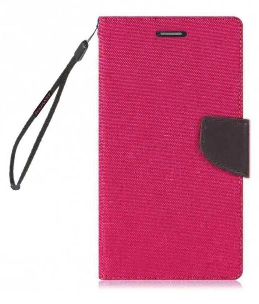 Realme 5 Pro Flip Cover by MAJANSY - Pink