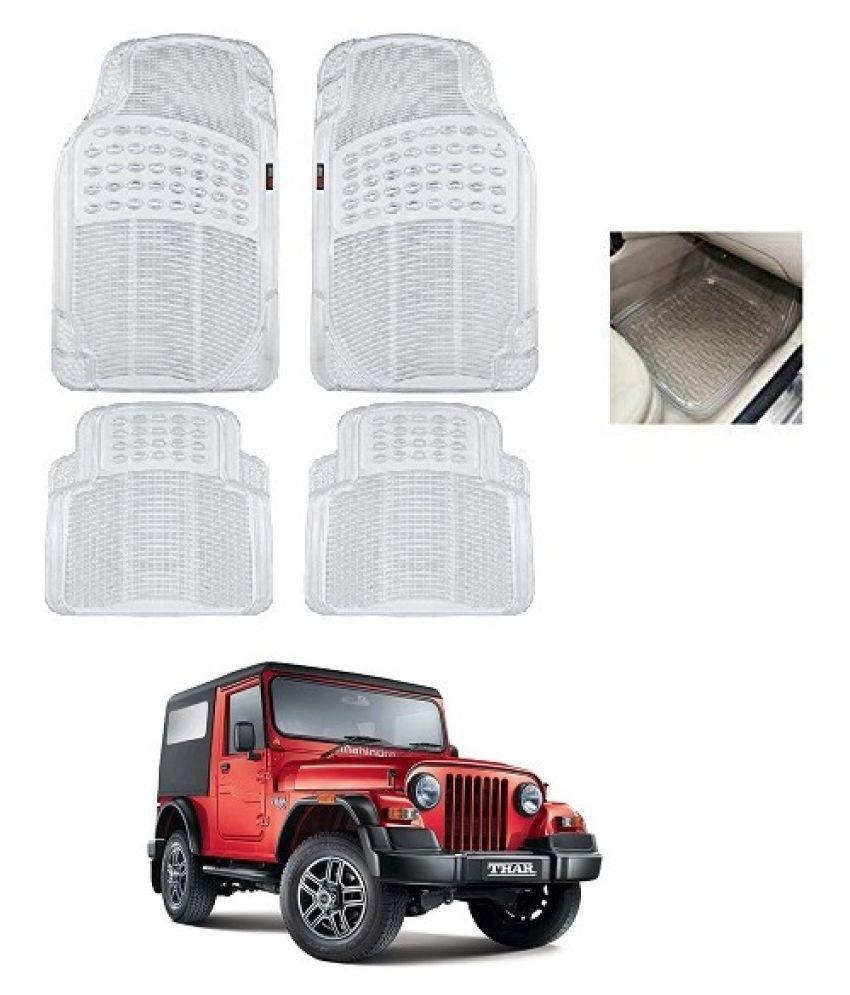 Trigcars White Set of 4 Floor Mat