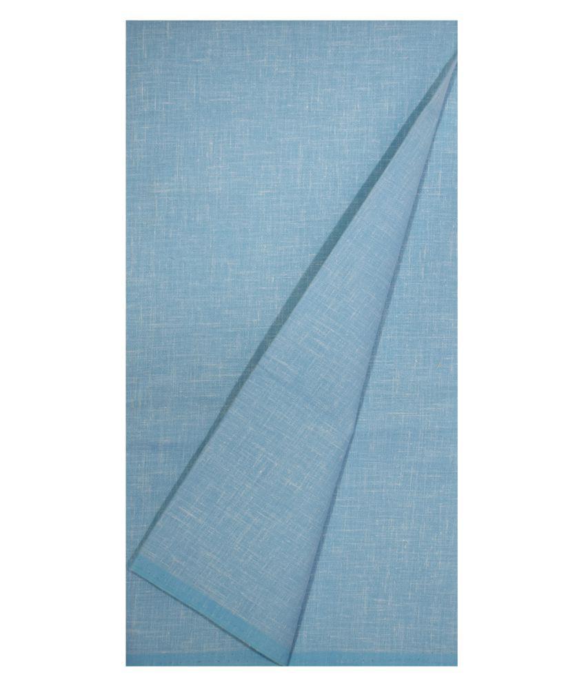 KUNDAN SULZ GWALIOR Blue Cotton Blend Unstitched Shirt pc