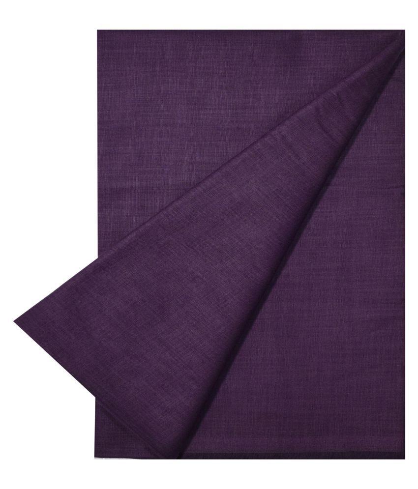 KUNDAN SULZ GWALIOR Purple Cotton Blend Unstitched Shirt pc