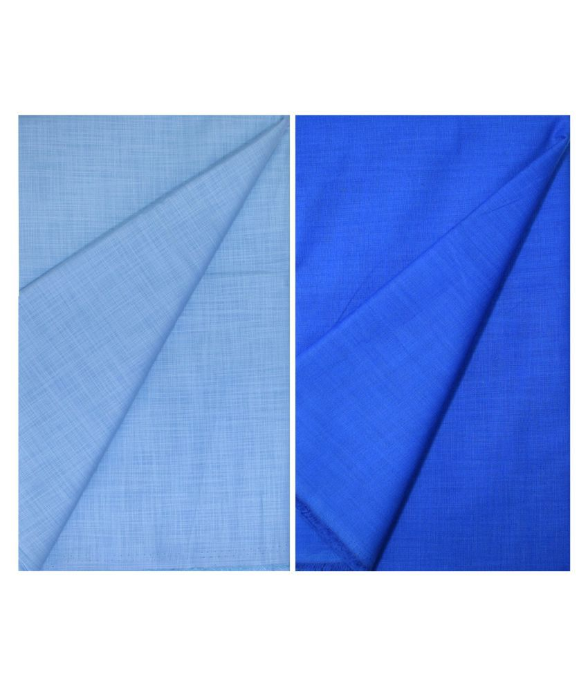 KUNDAN SUZ GWALIOR Multi Cotton Blend Unstitched Shirt pc
