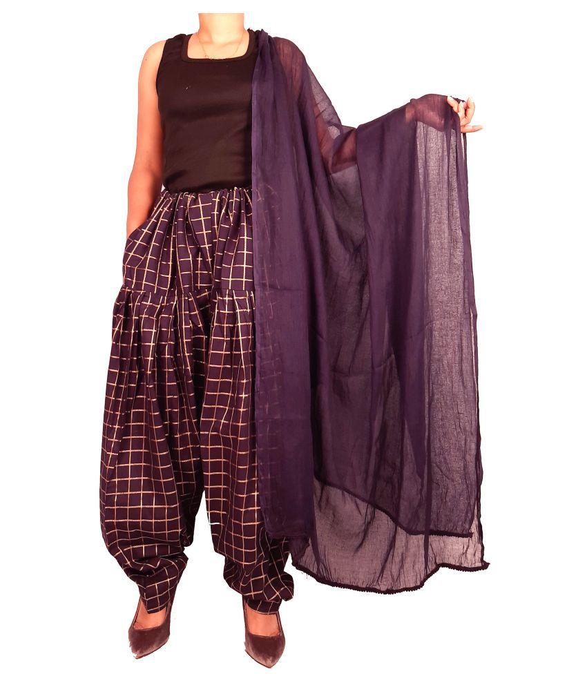 Ojario Fashions Cotton Single Salwar With Dupatta