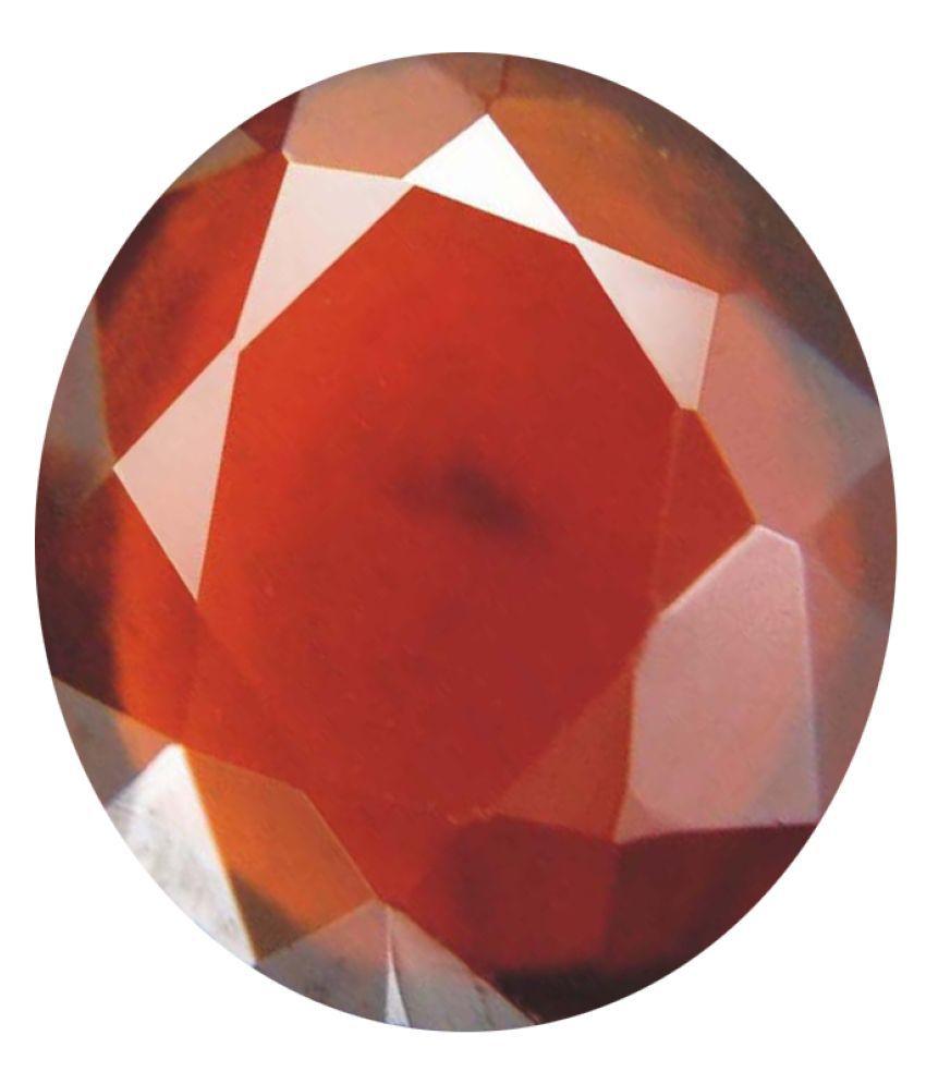 Tejvij And Sons 4.25 -Ratti Self certified Red Garnet Semi-precious Gemstone