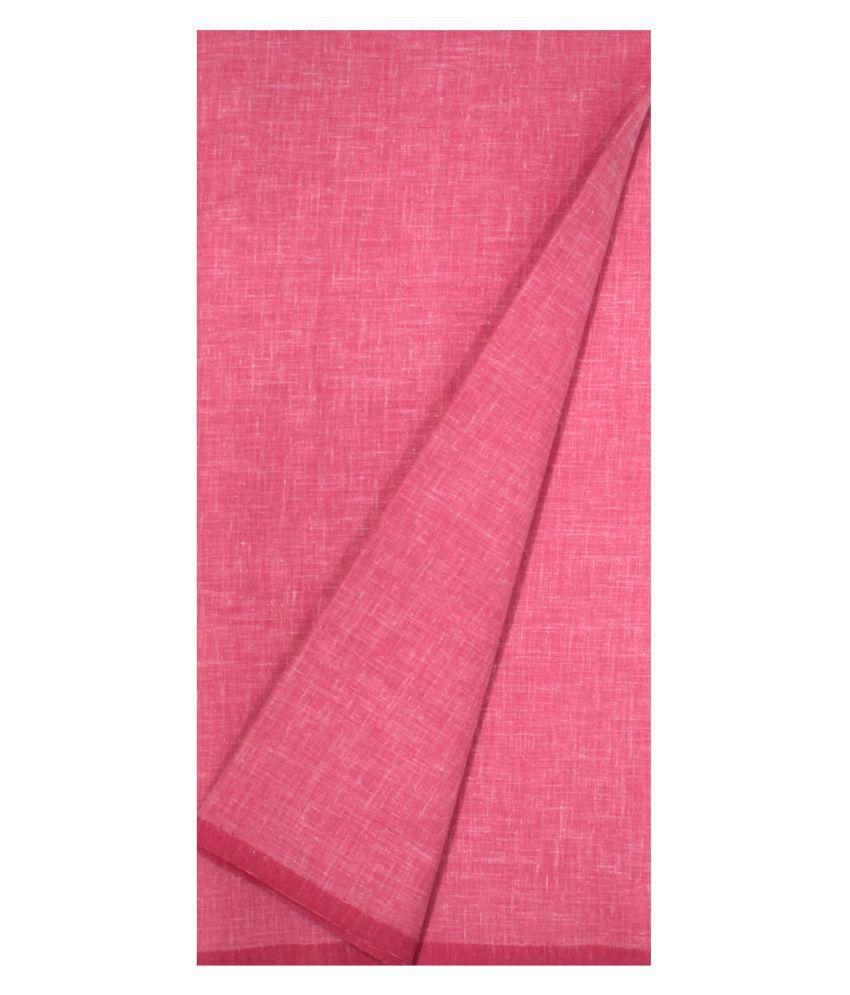 KUNDAN SUZ GWALIOR Pink Cotton Blend Unstitched Shirt pc