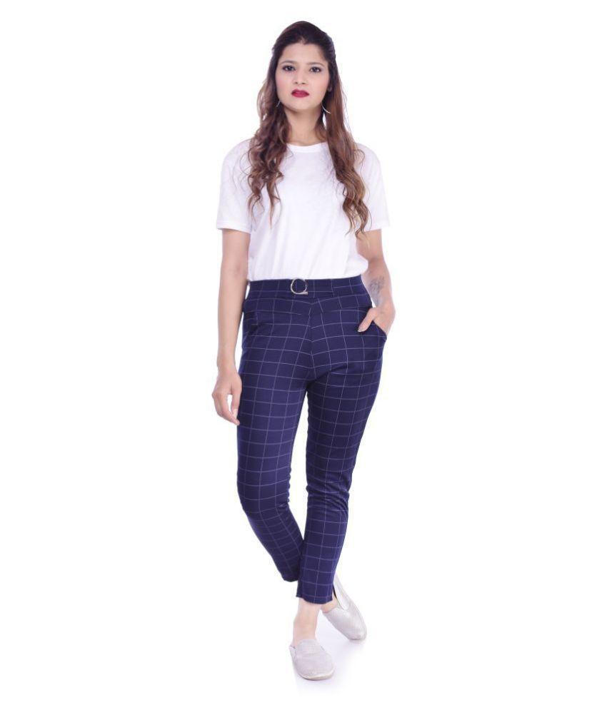 ADABHUT Cotton Lycra Jeggings - Blue