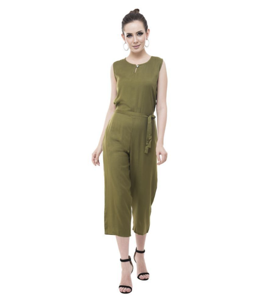 Cora Dora Green Rayon Jumpsuit