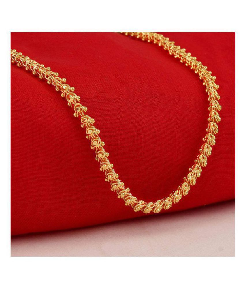 World Of Jewles Latest Design Gold plated chain necklace 24 inch long Unique design for Men Women