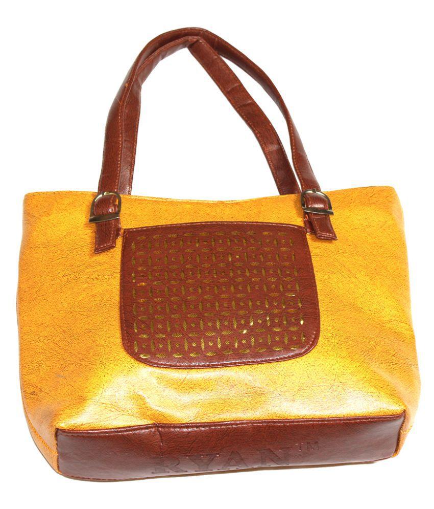 Women party/Causal Handbag Yellow P.U. Handheld