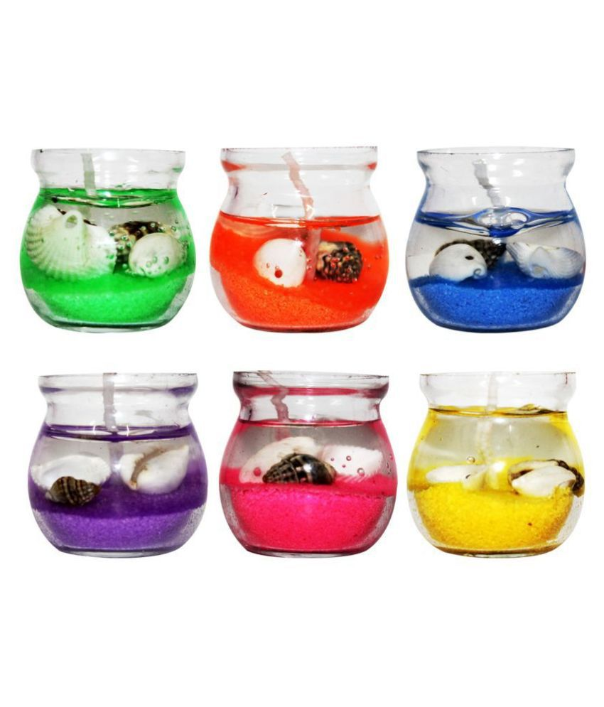 Luxantra Multicolour Wax Tea Light - Pack of 12