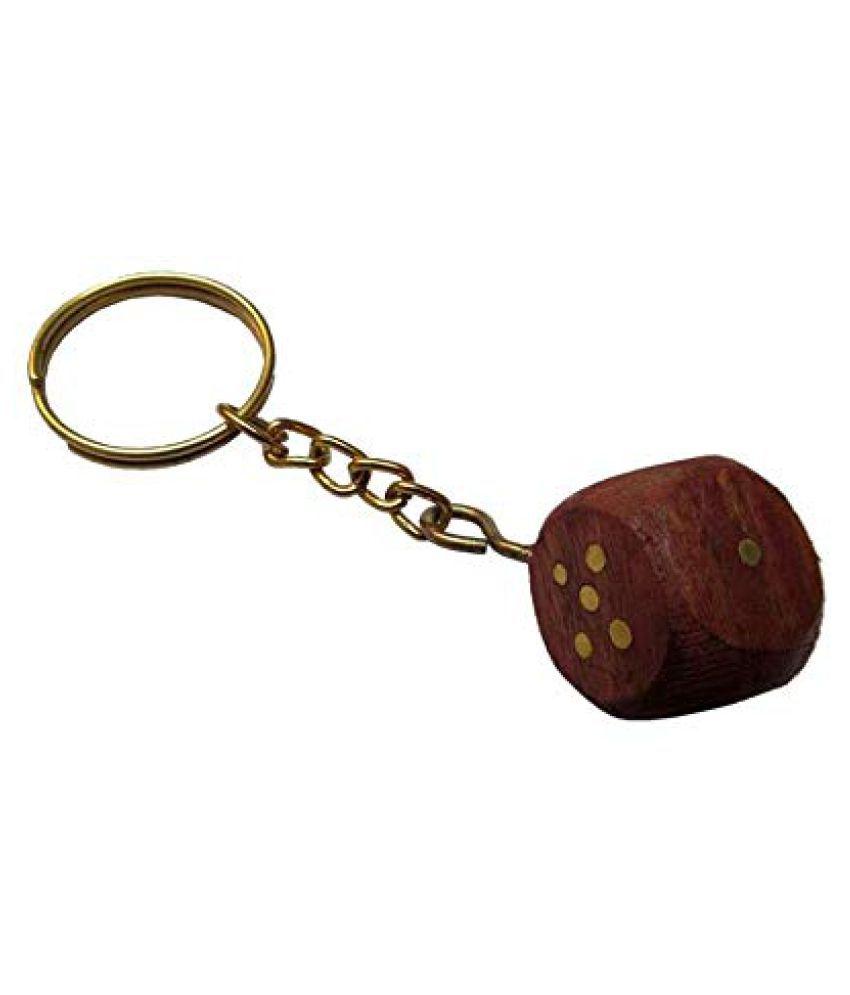 Hop n Shop Leatherite Keychain Brown