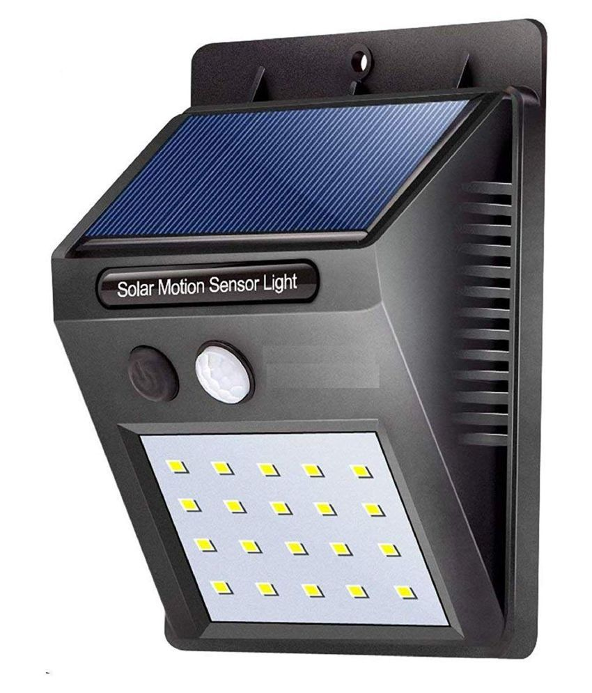 NYALENTERPRISE 1W Solar Outdoor Wall Light - Pack of 1