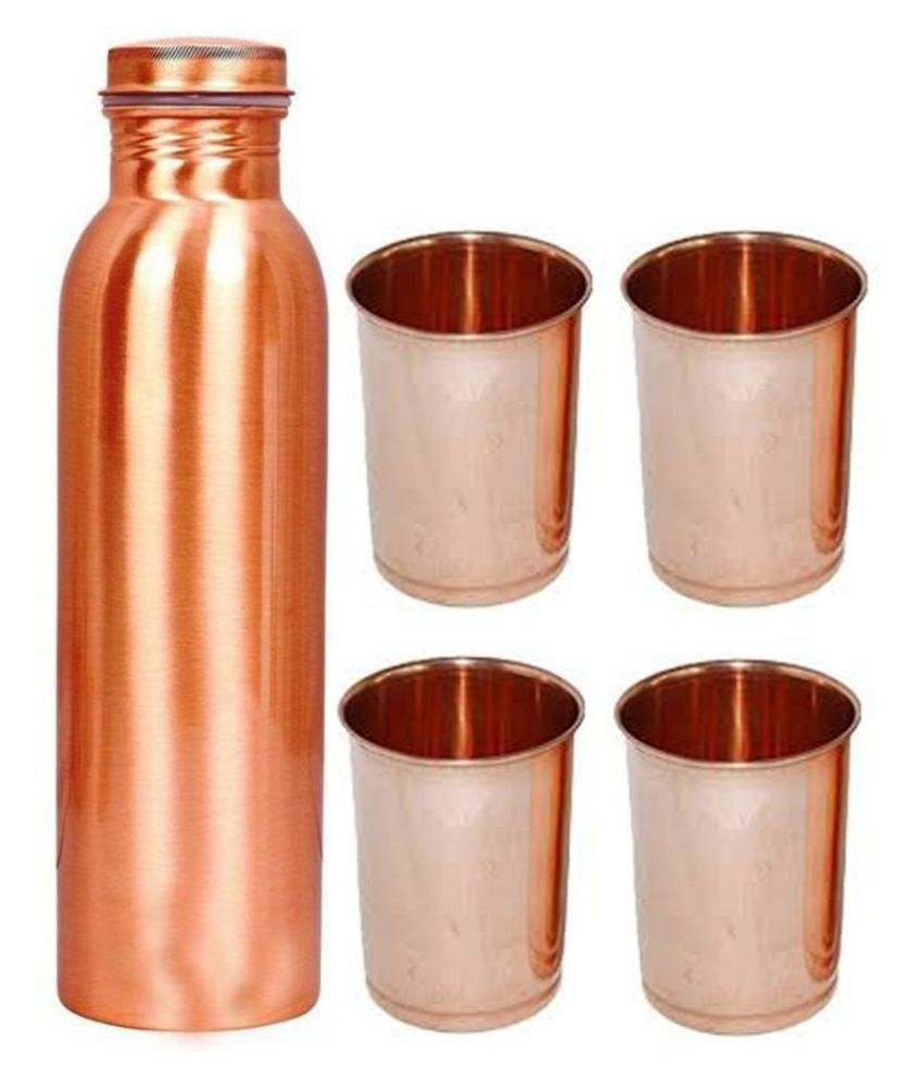 OXYJAL Copper Bottle Gift 5 Pcs Lemon set
