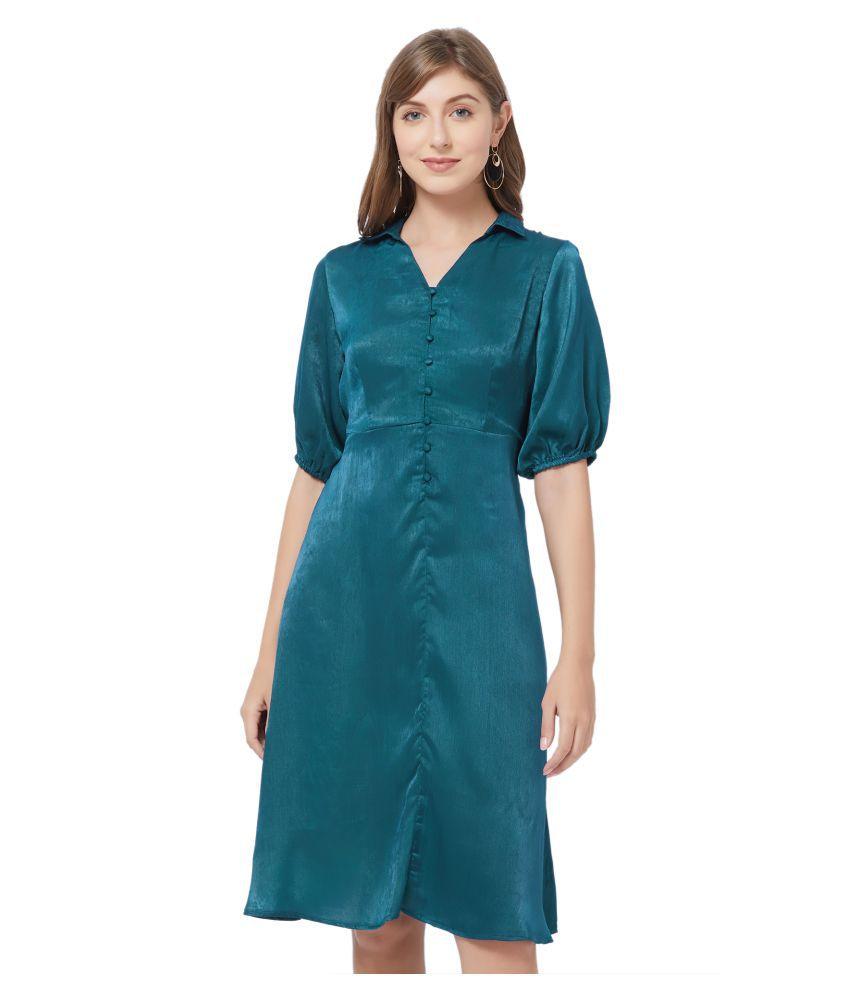109 F Polyester Green Regular Dress