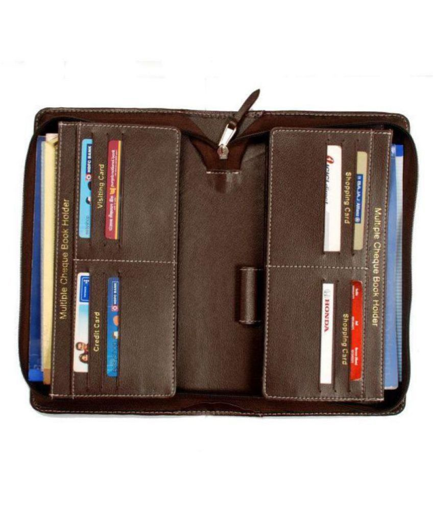 multiple cheque book holder and business card  22 slots