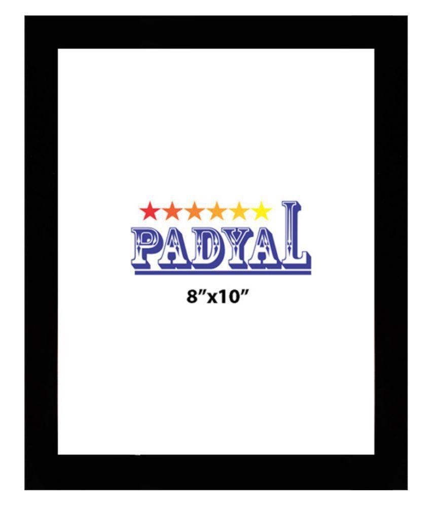 PADYAL Wood Table Top & Wall hanging Black Single Photo Frame - Pack of 1