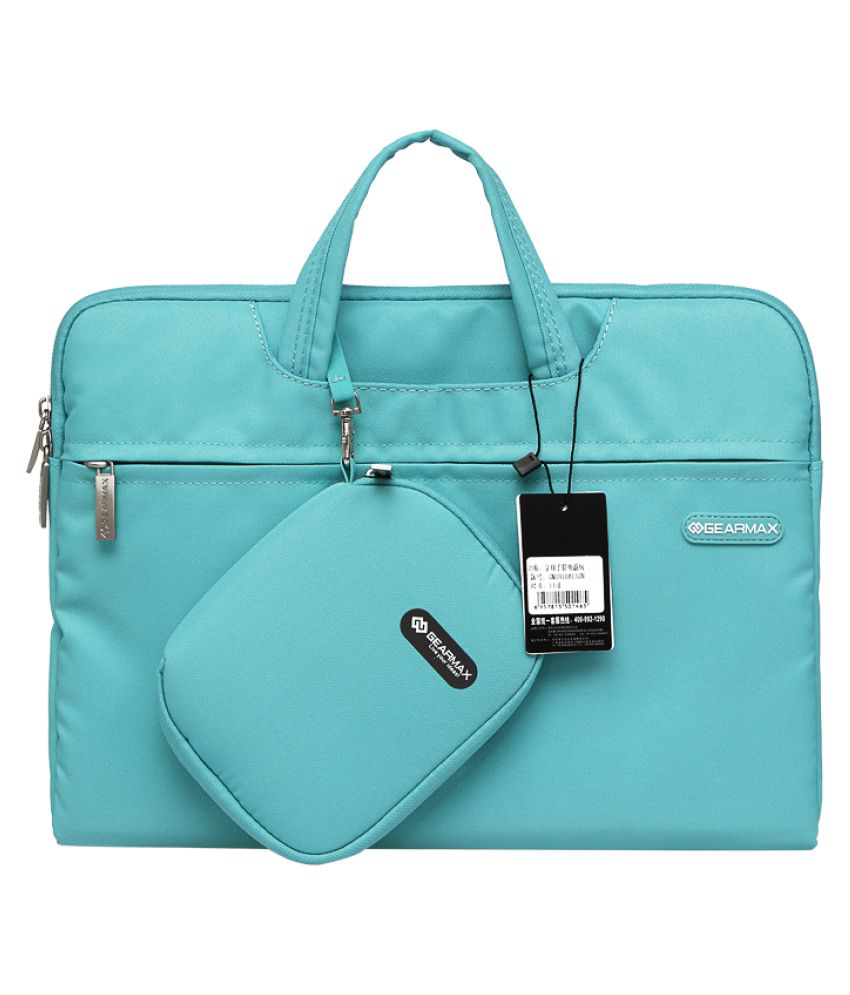 Home Story Turquoise Polyester Office Messenger Bag