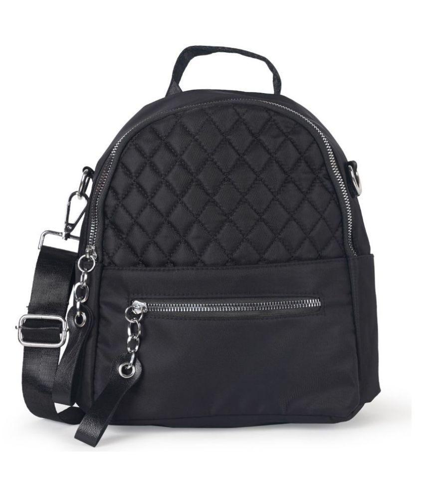 Aspen Leather Black Waist Pouch/Travel Bag