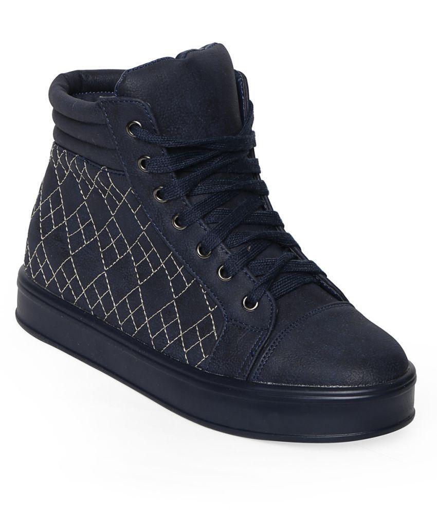 Flat N Heels Blue Casual Shoes