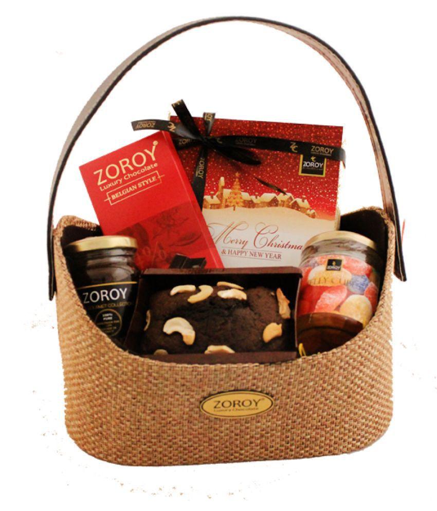Zoroy Luxury Chocolate Assorted Basket Christmas Finesse hamper 825 gm