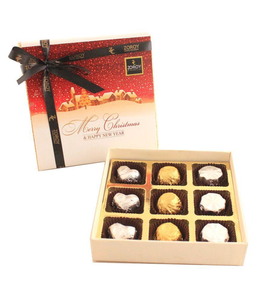 Zoroy Luxury Chocolate Chocolate Box Christmas Special 9 chocolate box 100 gm