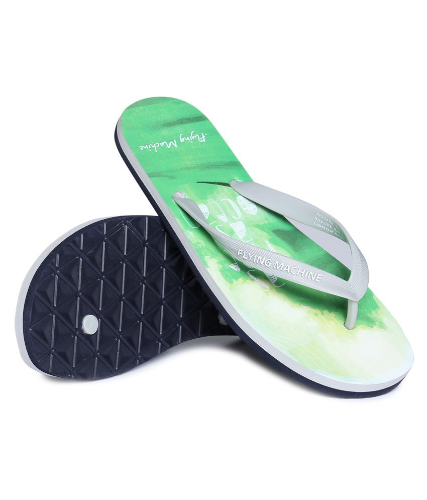 Flying Machine Green Toe covered flip flop
