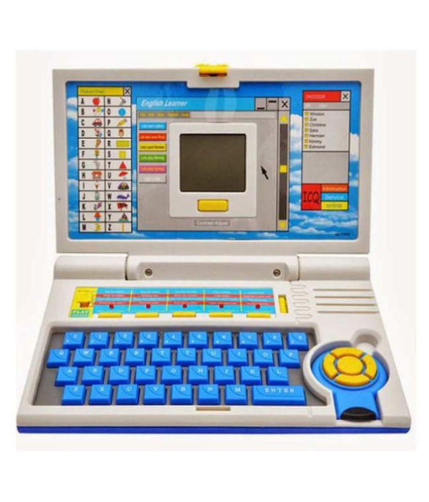 NEER BROTHEER'S(™)TOY'S  Kids Fun English Learner Educational Laptop for 20 Fun Activities Enhanced Skills of Children Premium Quality