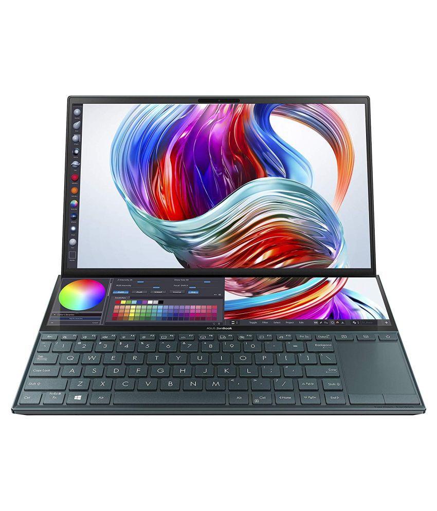 ASUS Zenbook Duo (Intel Core i5 10th Gen/8GB RAM/512GB NVMe SSD/Windows 10/MX250 2GB GDDR5 /Celestial Blue/1.50 Kg/14' FHD IPS/ScreenPad Plus) UX481FL-B5811T