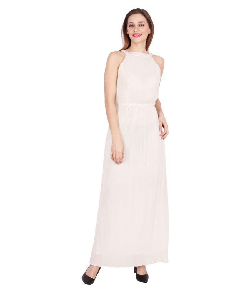 Meraki Vine Off White Crepe Gown