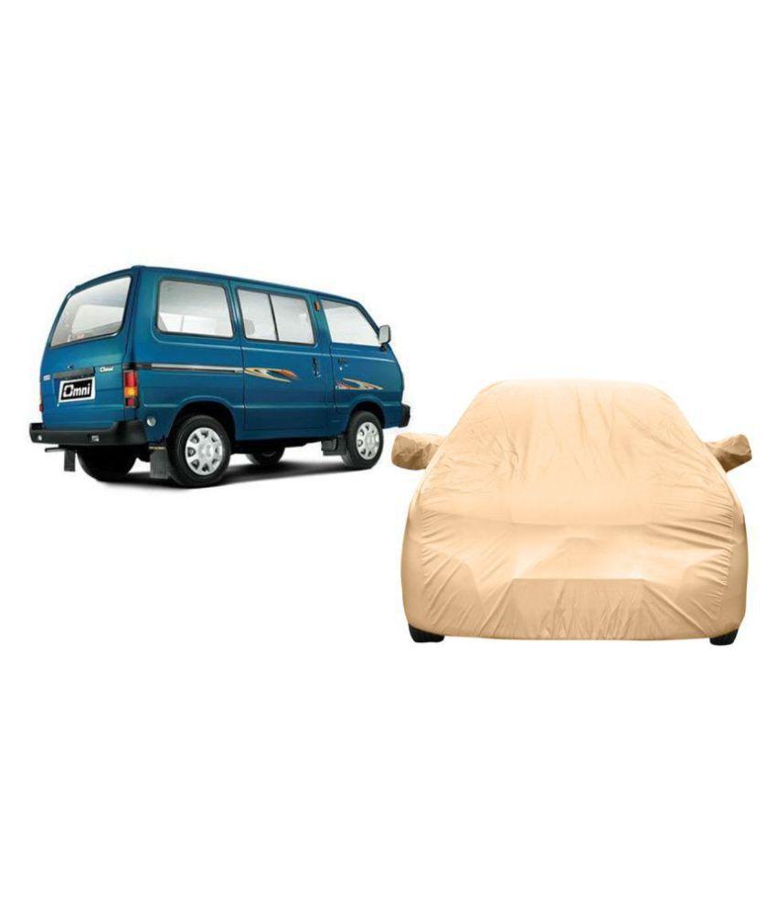 Alexus Car Cover for Maruti Suzuki Omni (Mirror Pockets) (Beige)