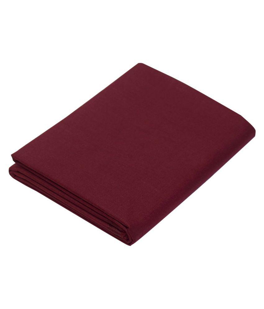 KUNDAN SULZ GWALIOR Maroon Cotton Blend Unstitched Shirt pc