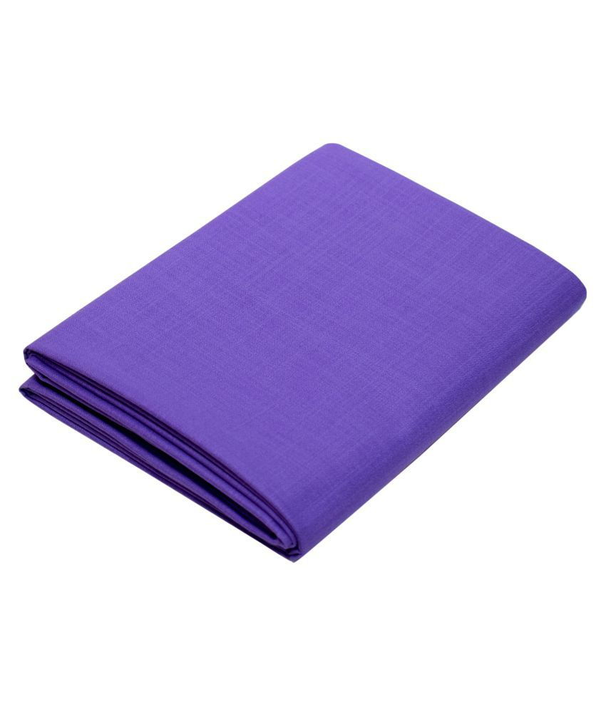 KUNDAN SUZ GWALIOR Purple Cotton Blend Unstitched Shirt pc
