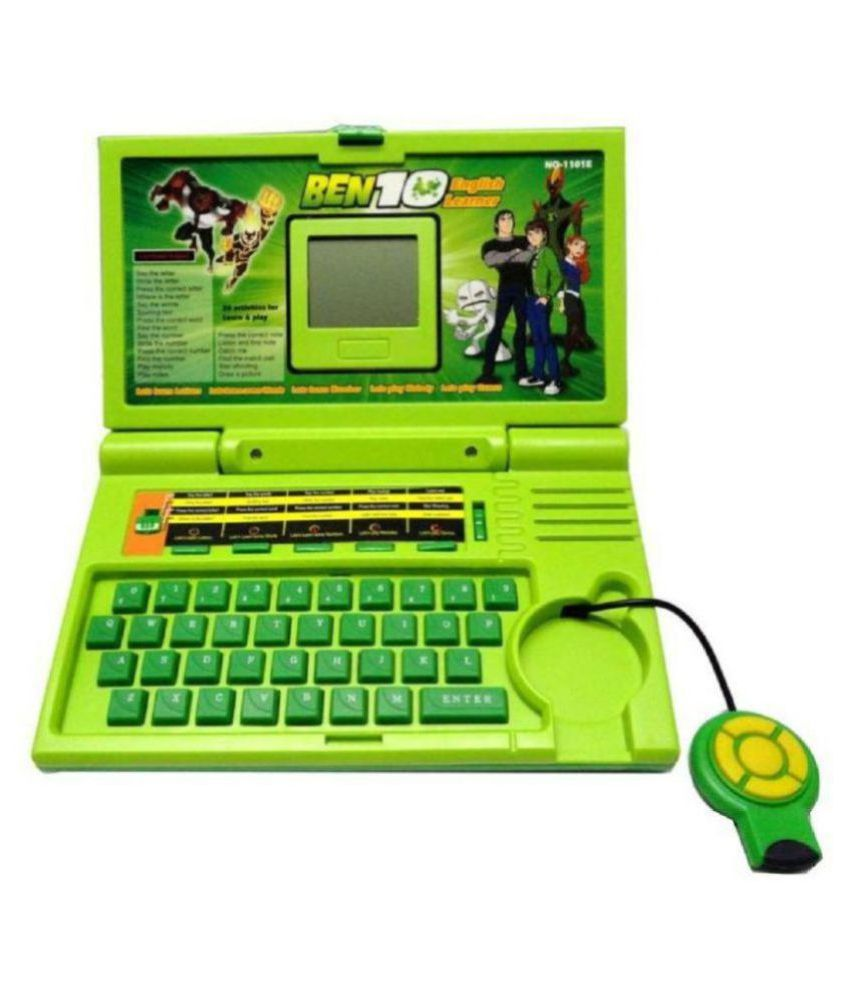 CLASSIC QUALITY(™)TOY Ben - 10 English Learner Laptop For Kids (Green)
