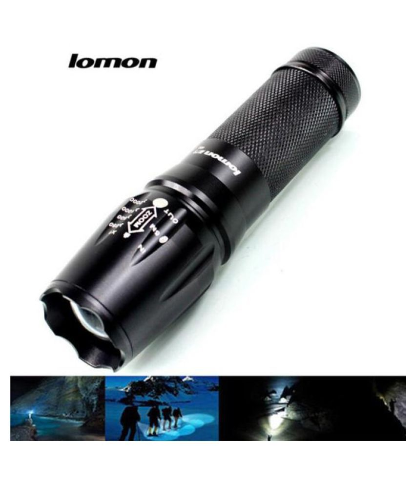 IPX-55 Waterproof Rating LED Outdoor Rechargeable Flashlight Torch