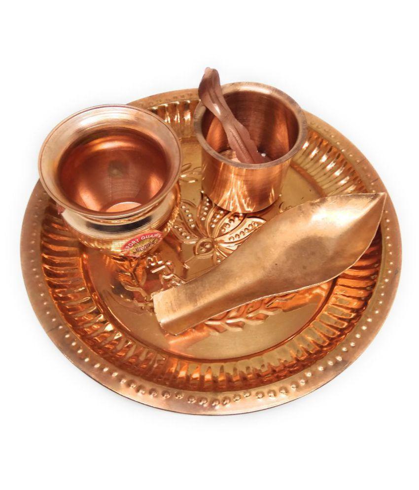 Apan Rudraksh Copper Pooja Thali Set
