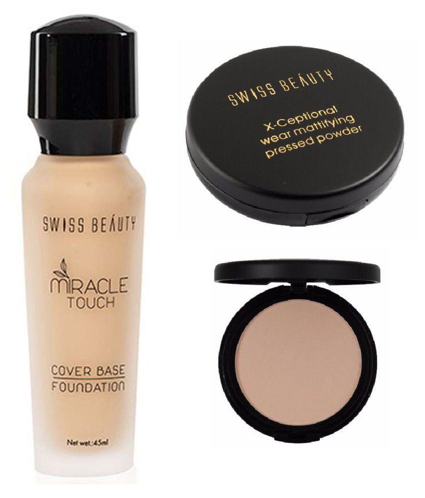 RTB Swiss Beauty Compact & Liquid Foundation Medium SPF 15 Pack of 2 50 g