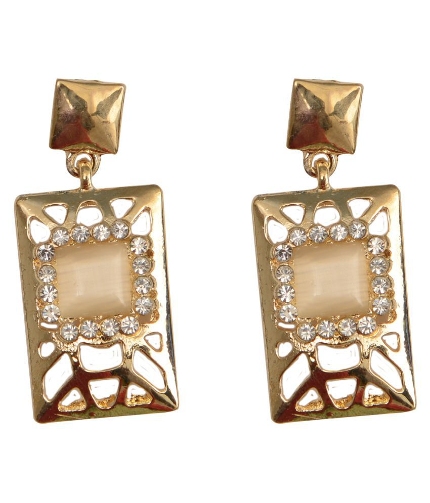 Rabia Taj Pearl Designer Drop Dangle Earrings