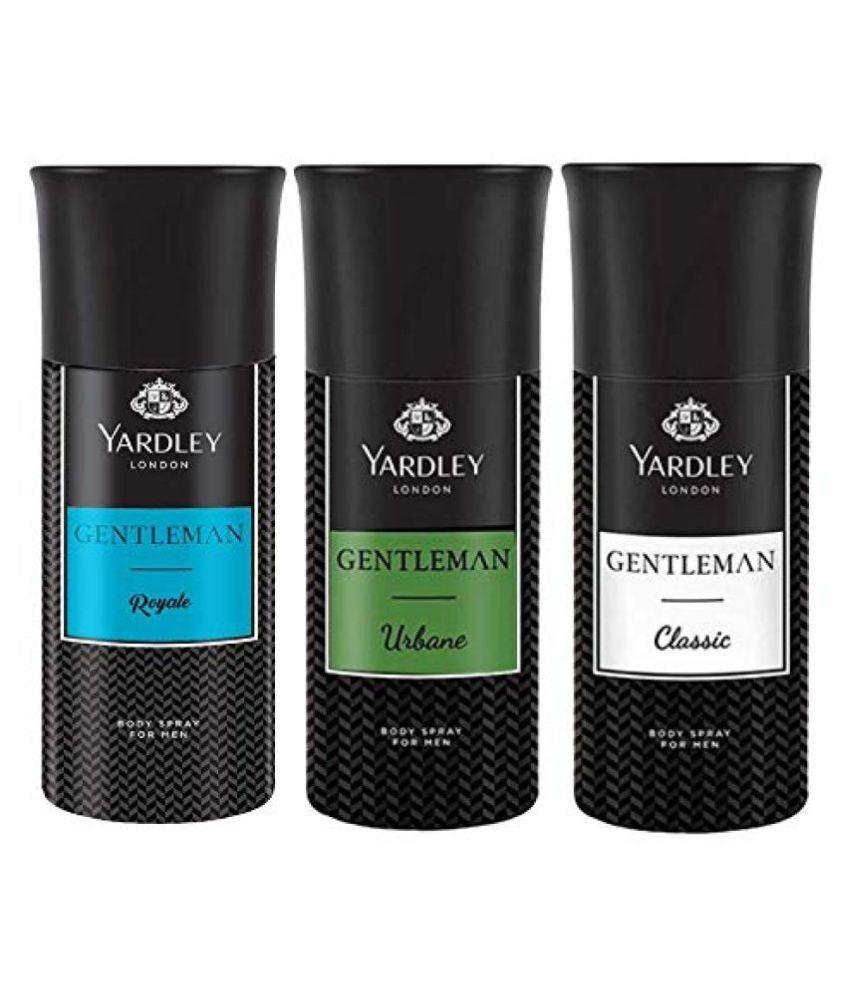 Yardley London Deo Tripack For Men- Gentleman Classic + Gentleman Urbane + Gentleman Royale 150ml X 3