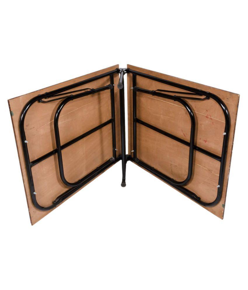 ponperi Single Size Folding Bed   Iron Folding Bed   Wood ...