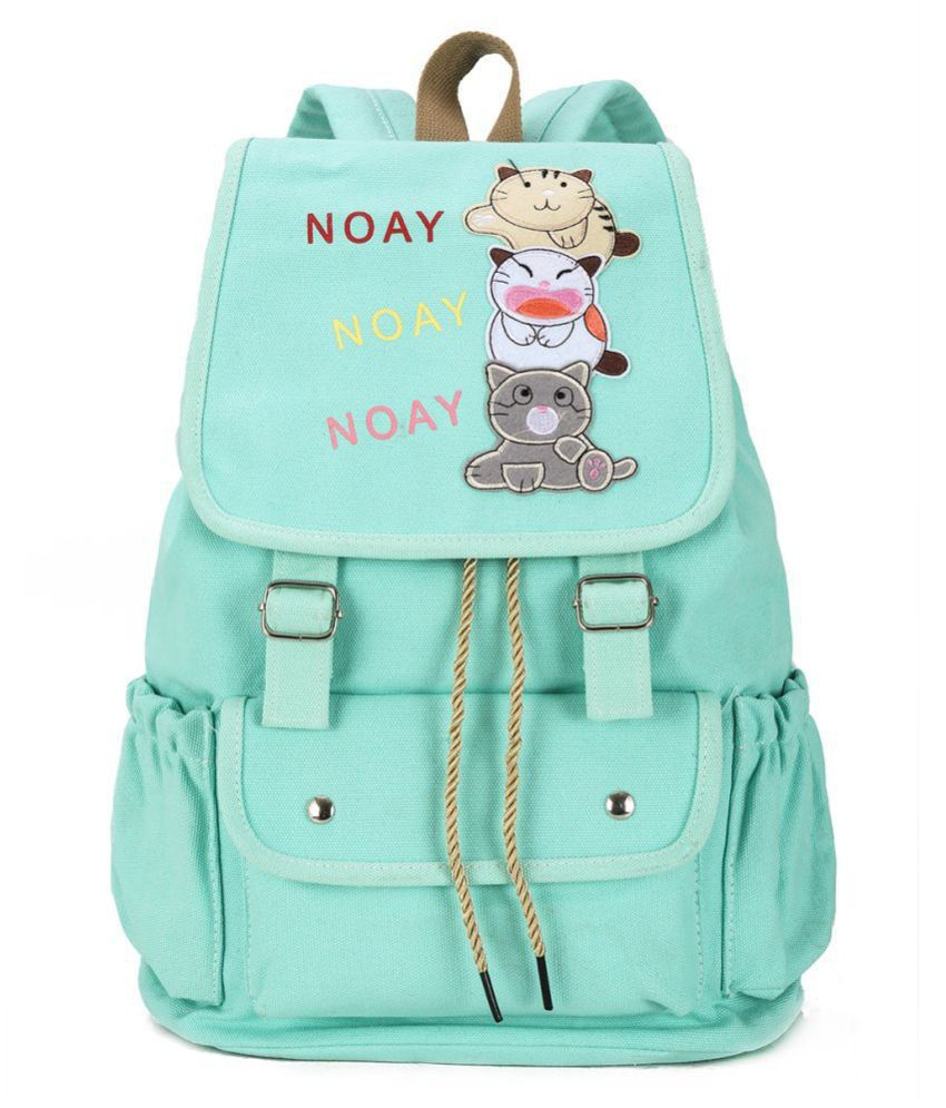 Tinytot C Green Canvas 15 Ltrs College Bags Backpacks For Girl Women Backpack