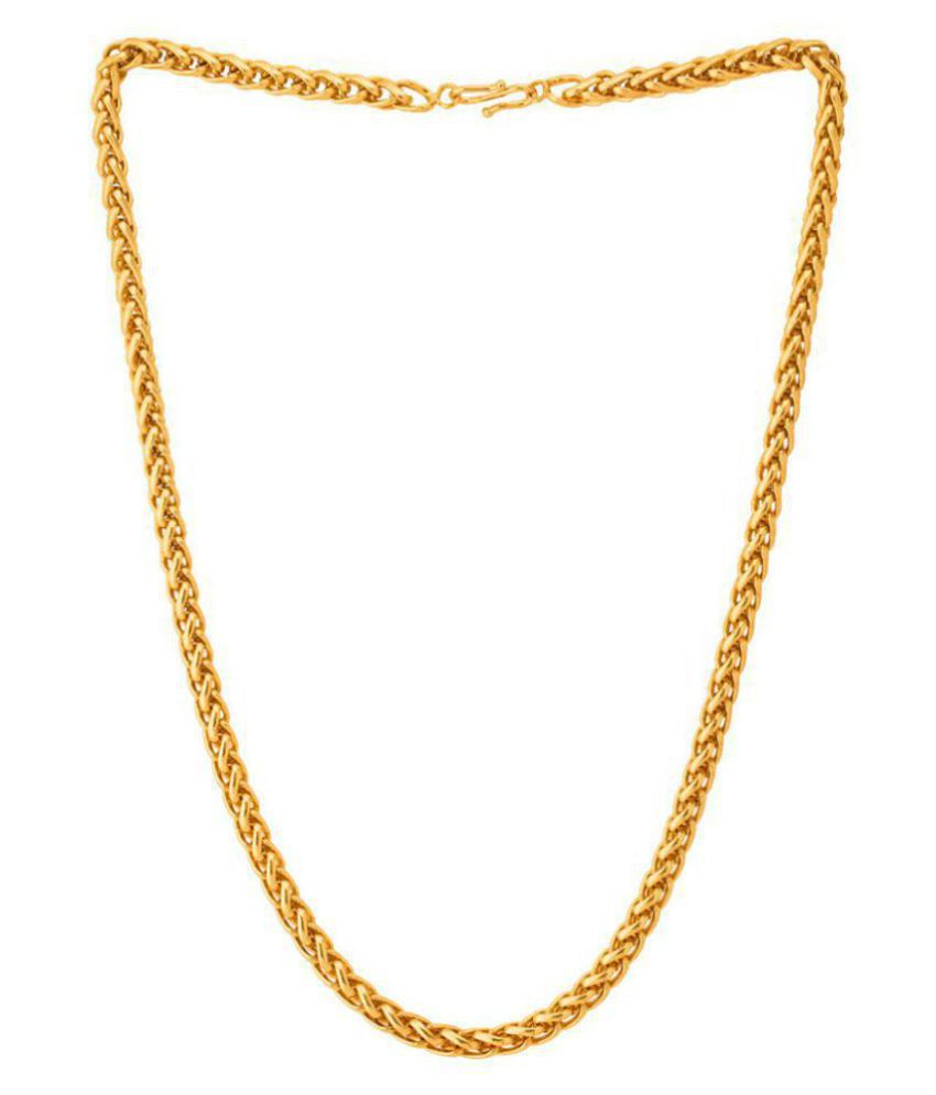 shankhraj  gold plated online link chain  for mens or boys(CH-ONLINE-24)